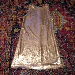 Pippa & Julie gold sequined dress 12 EUC